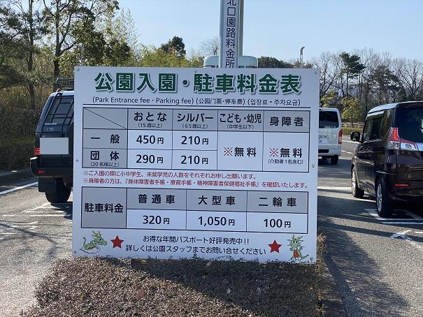 駐車料金とまんのう公園入園料