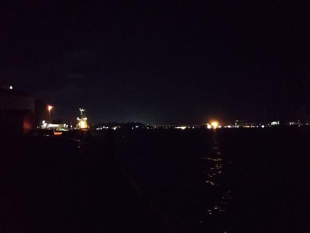 夜の林田港