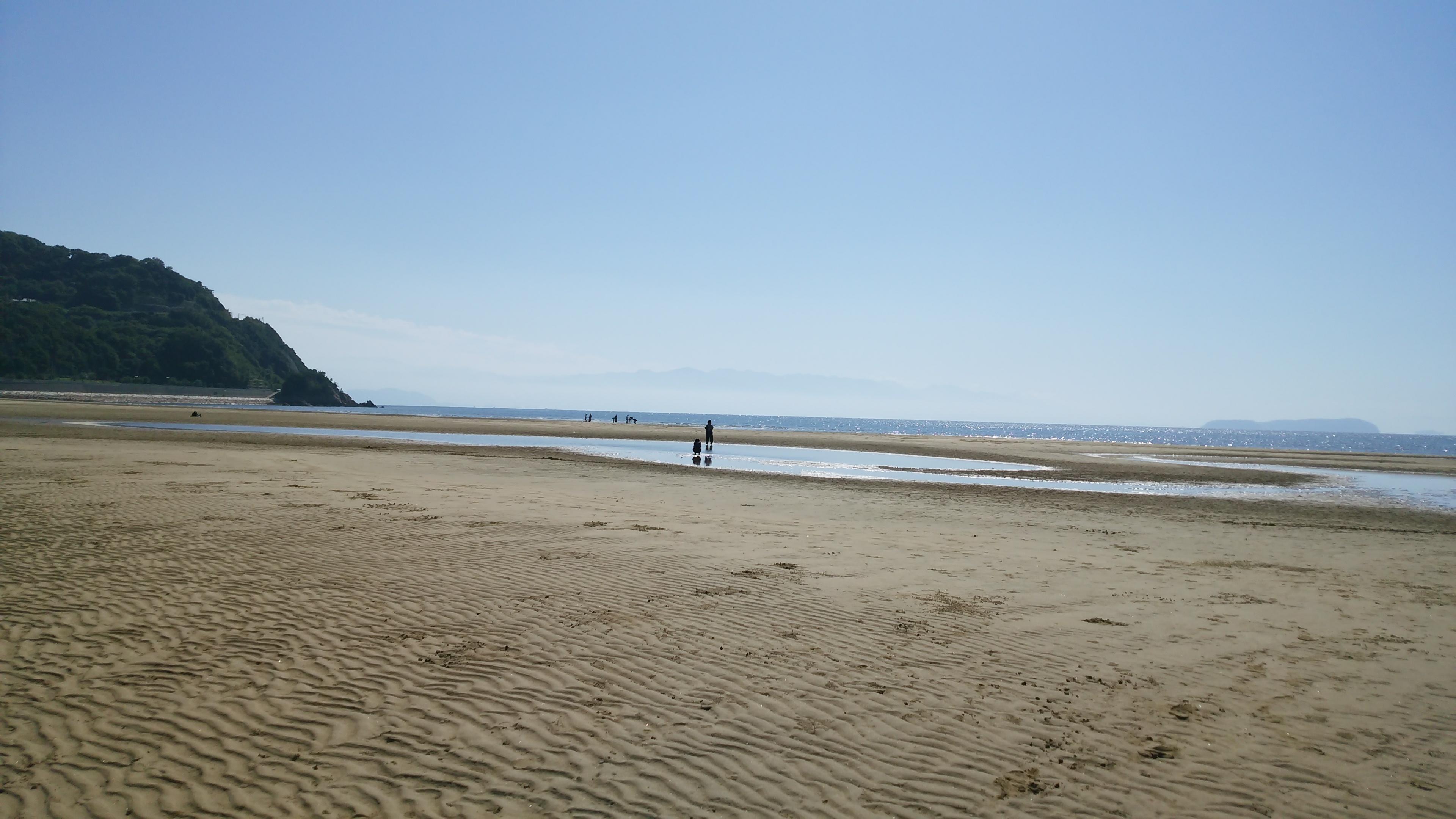 フラットスキムボードを三豊市 父母ヶ浜海岸海水浴場で