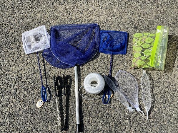 モガニやイシガニの釣りの道具