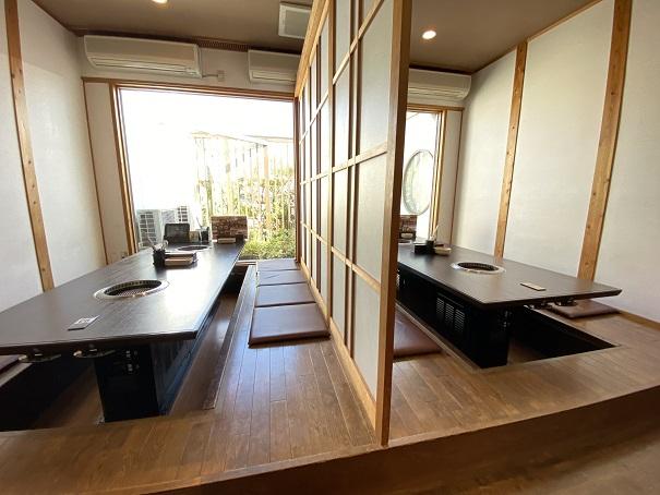 焼肉松坂 国道店店内風景と座席