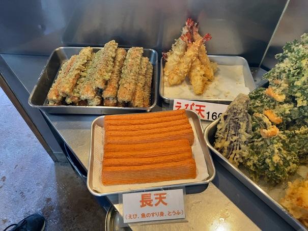 天ぷらメニューと価格