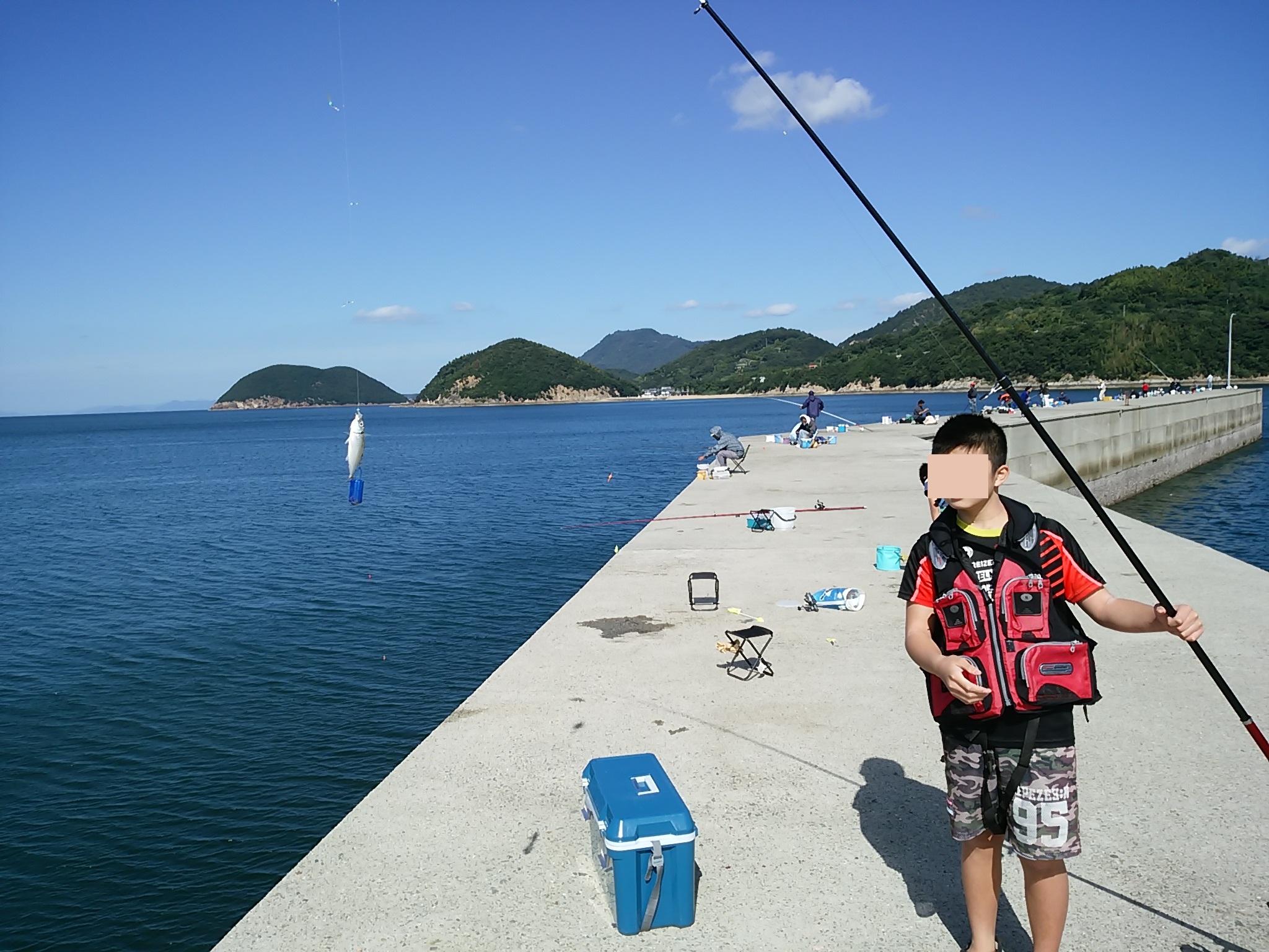 仁尾マリーナのサビキ釣り サバやアジやサヨリが入れ食い