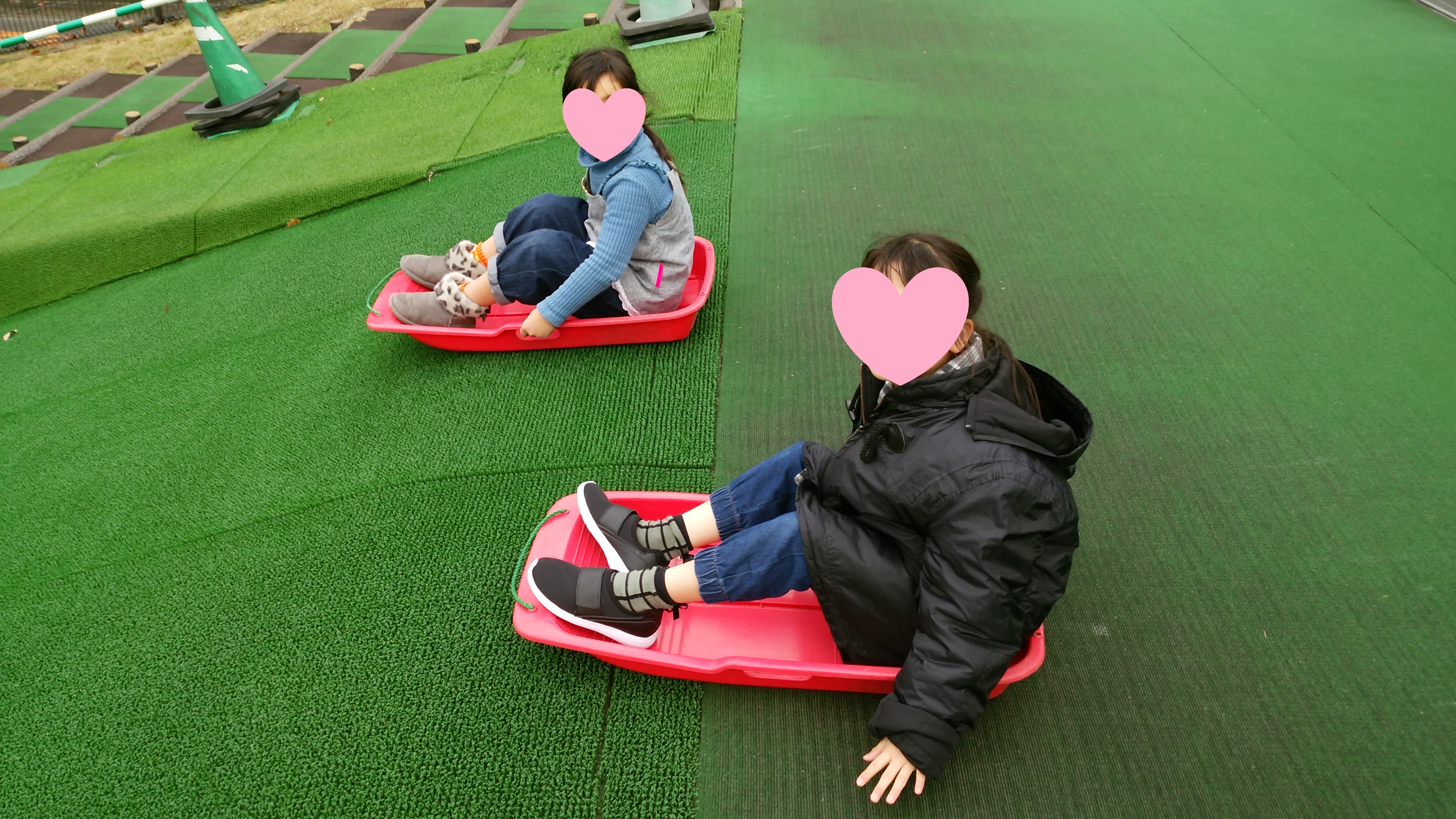 さぬき空港公園のそりゲレンデで遊ぶ 高松市