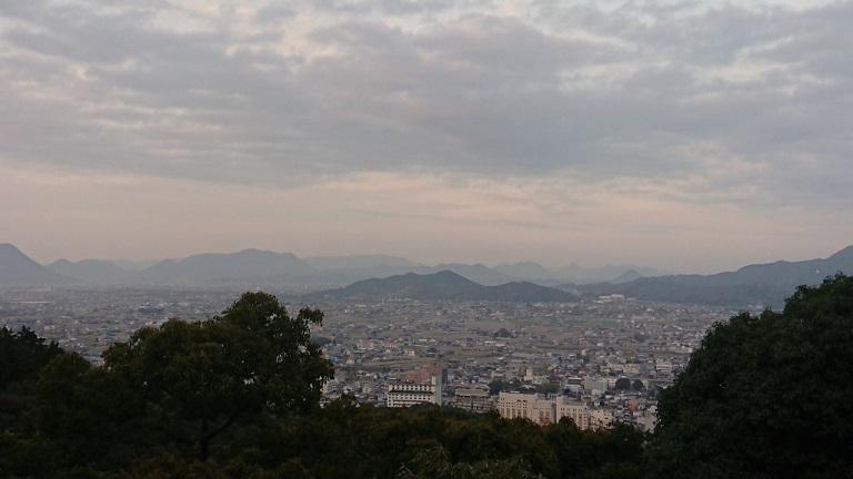 金比羅宮御本宮から見たきれいな景色