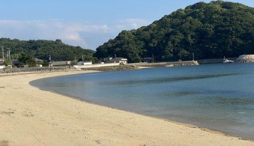 仁老浜海水浴場で素潜りでサザエやタコ モリでベラ 三豊市