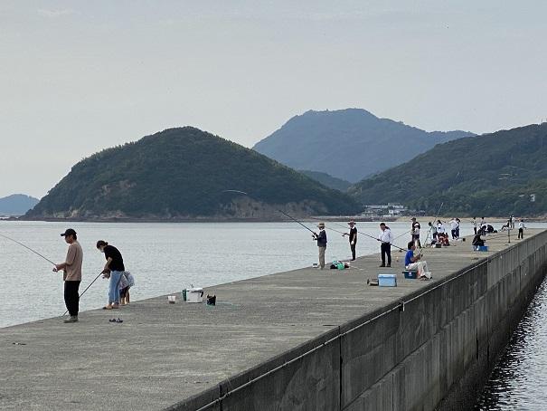 仁尾マリーナの防波堤人気の釣りポイント