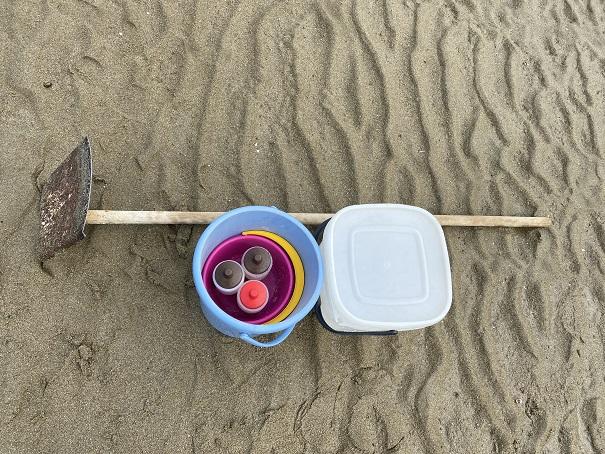 マテ貝の潮干狩り道具