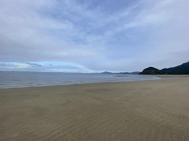 有明浜海水浴場のマテ貝取り