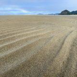 有明浜海水浴場でマテ貝を潮干狩り