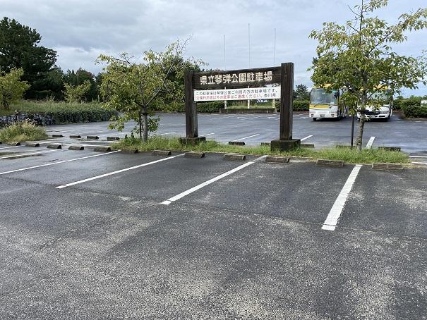 琴弾公園の駐車場