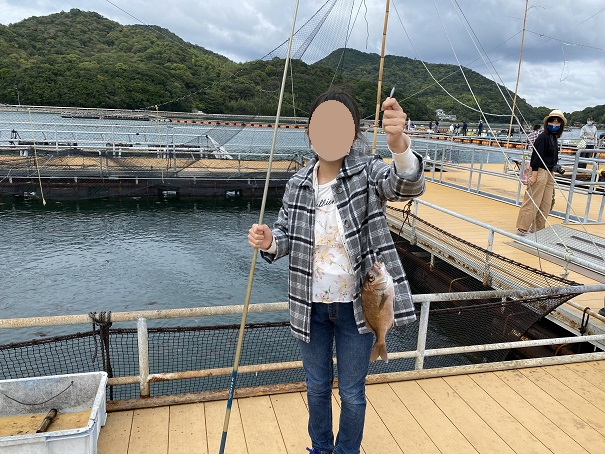 マーレリッコで鯛が釣れた