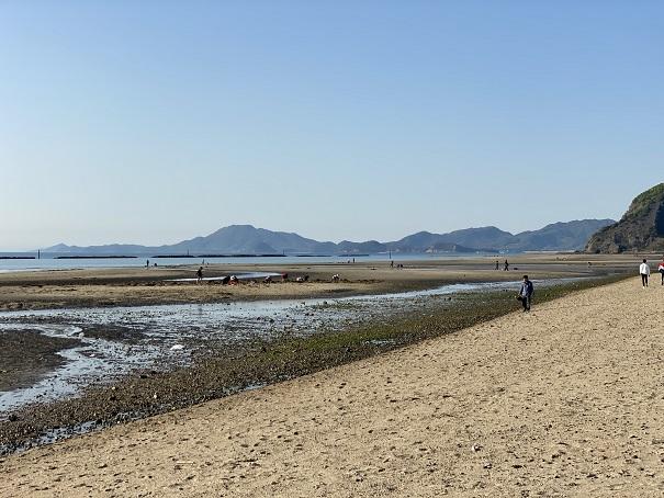 有明浜海水浴場の風景