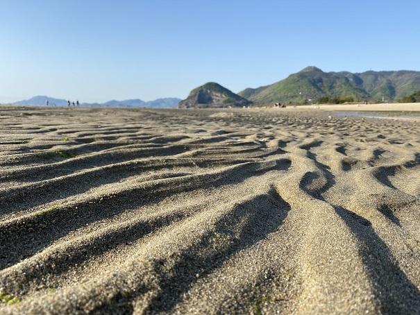 有明浜海水浴場マテ貝の潮干狩り
