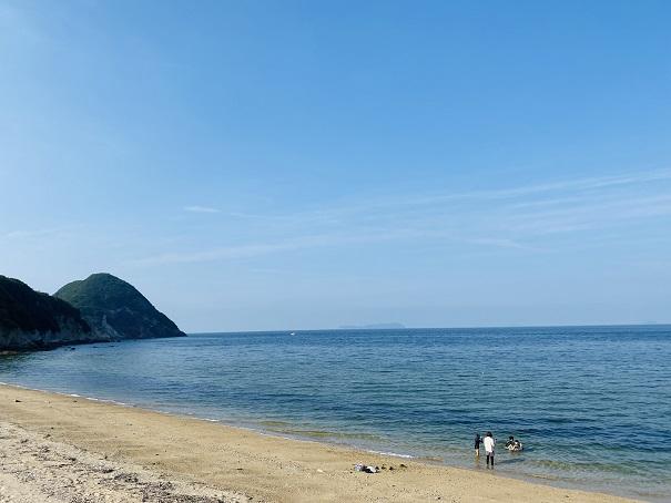 大浜と瀬戸内海