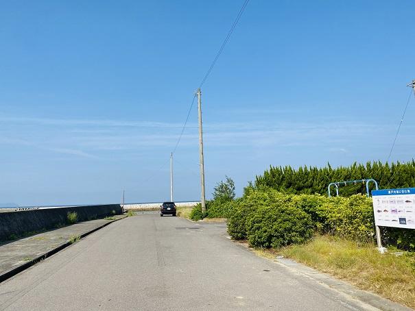 大浜道路に車を駐車