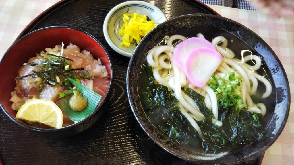 ひけた鰤ミニ丼セット
