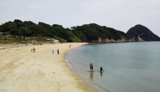 大浜で海水浴や素潜りでサザエ グランピング 三豊市