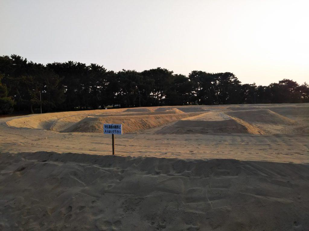 香川県観音寺市の銭形砂絵の寛永通宝