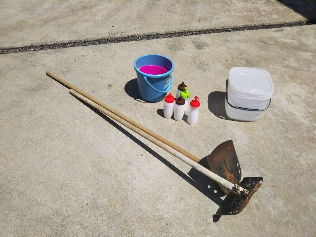 マテ貝採り用の道具セット