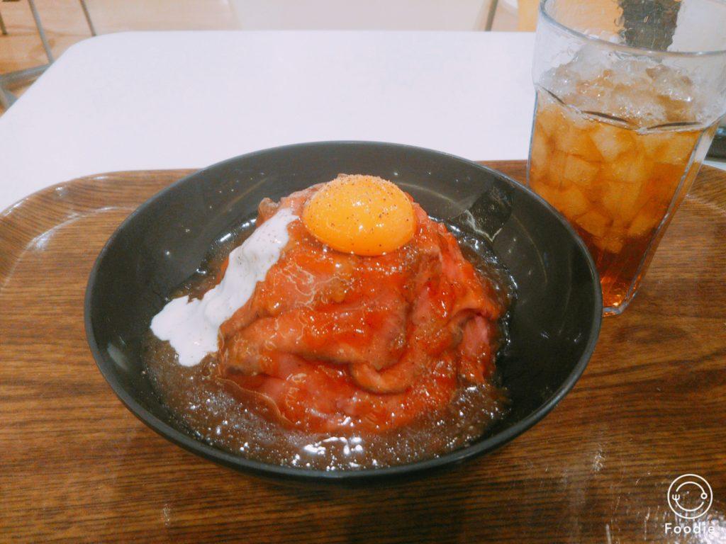 ローストビーフ丼690円