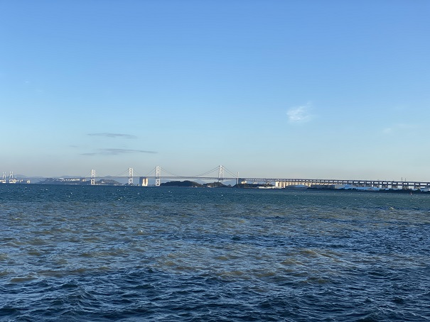 うたづ臨海公園の瀬戸内海の景色