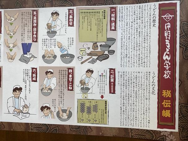 レシピ中野うどん学校琴平校