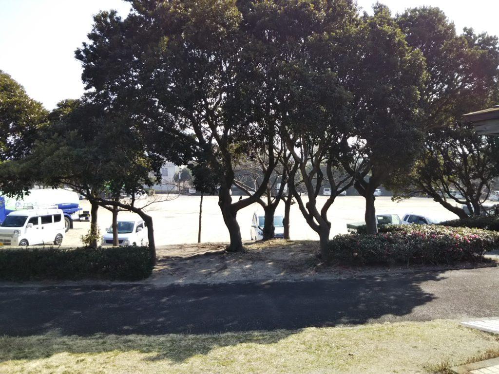 うたづ臨海公園舗装されていない駐車場