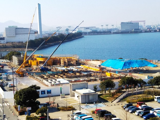 大成建設が建設中の四国水族館