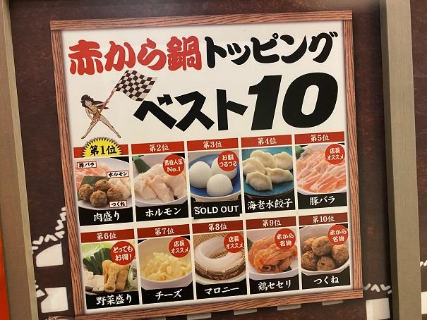 赤から鍋トッピングベスト10