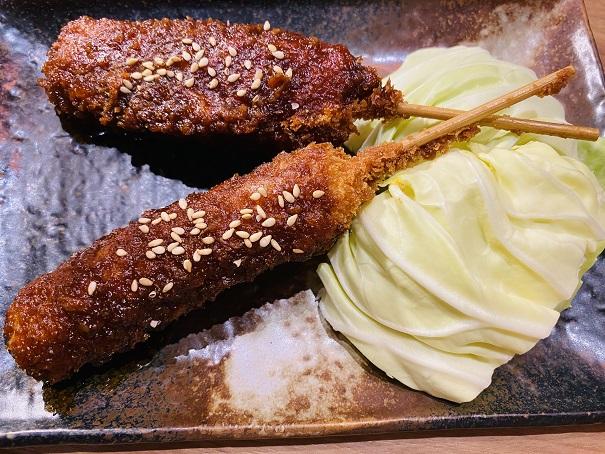 味噌串かつ2本