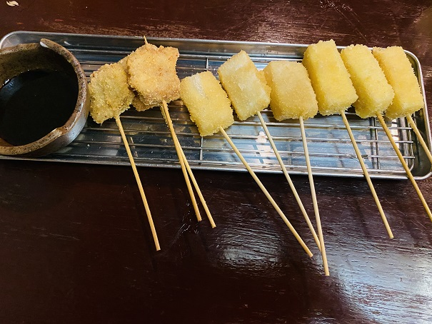 串カツぶたチーズもち