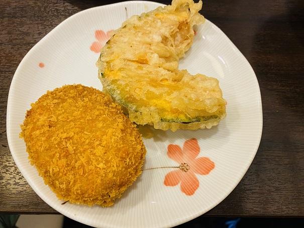 讃州製麺コロッケとかぼちゃ天