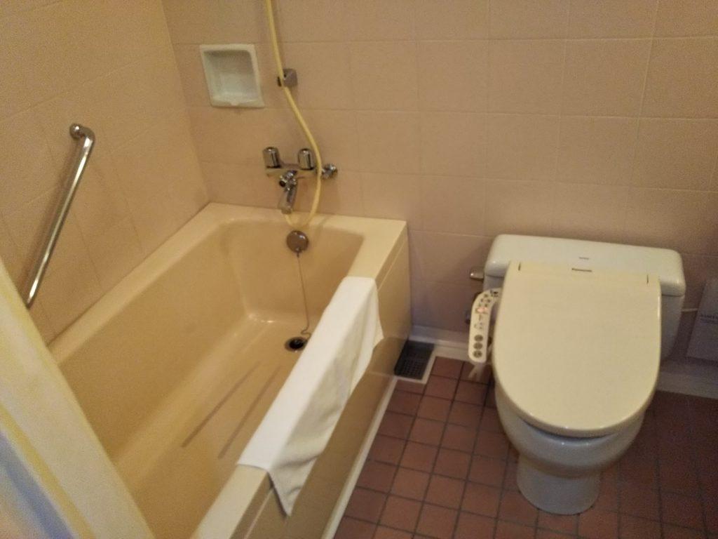 ベルビューガーデンホテル関西空港風呂トイレ
