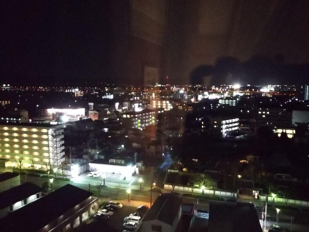 ベルビューガーデンホテル関西空港12階からの夜景