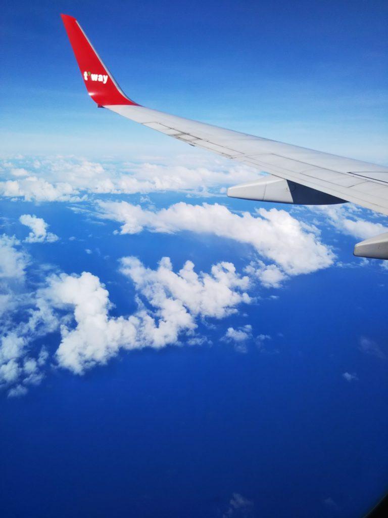 ティウェイ航空空の風景