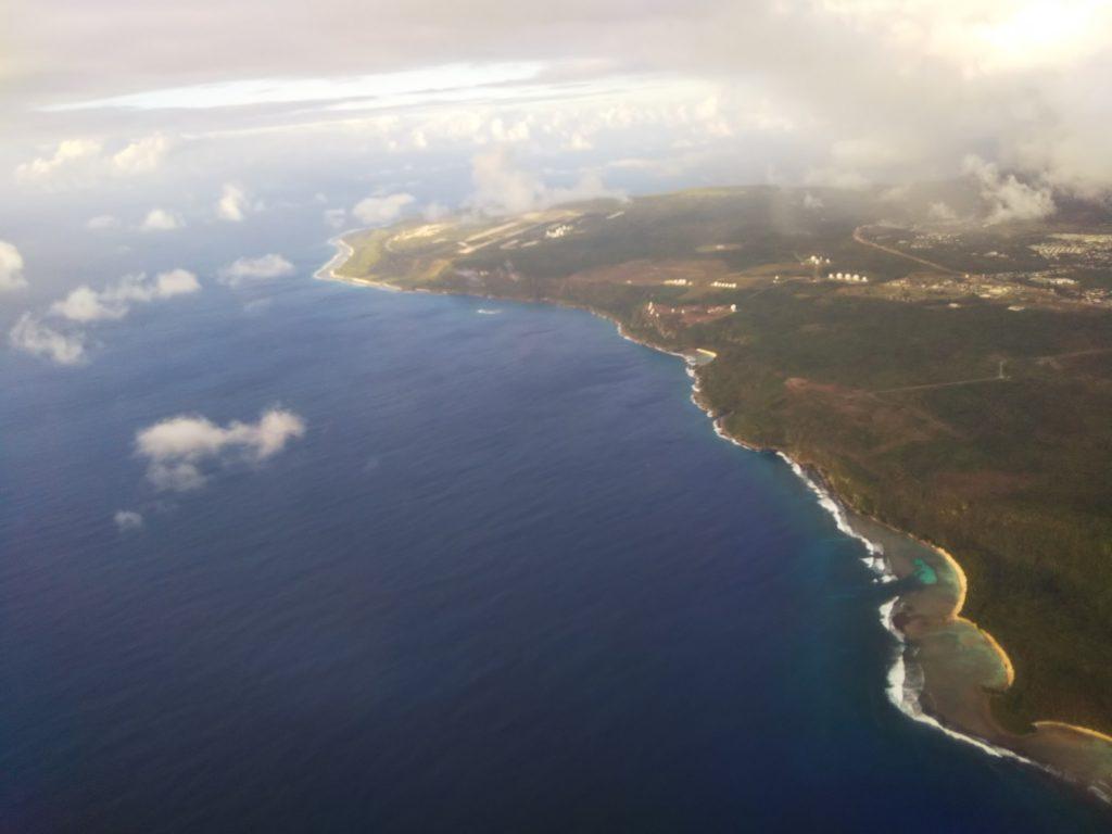 グアムからの風景飛行機