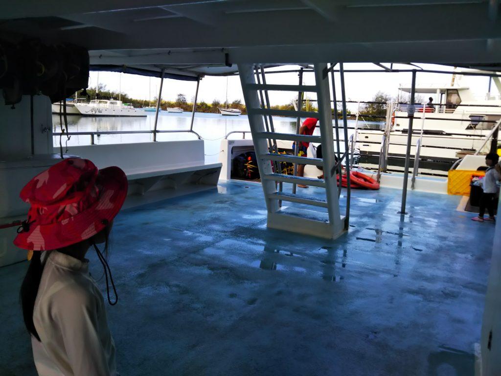 イルカウォッチ船の中2