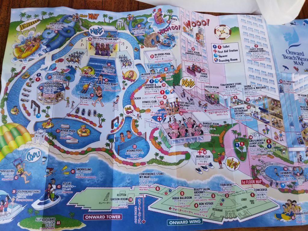 オンワードビーチリゾート地図