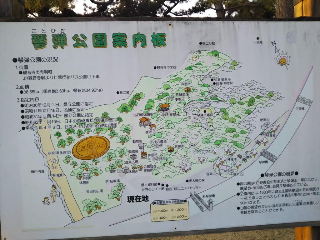 琴弾公園 案内図