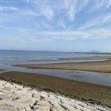 一の宮海岸でマテ貝採り