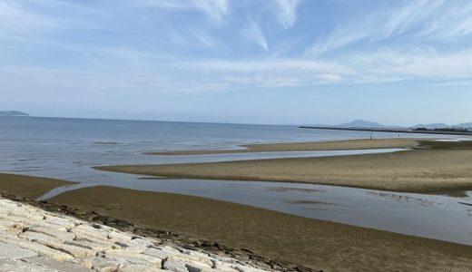 一の宮海岸でマテ貝採りと潮干狩り 観音寺市