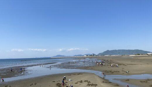 一の宮海岸海水浴場 マテ貝掘り あさりの潮干狩り 観音寺市
