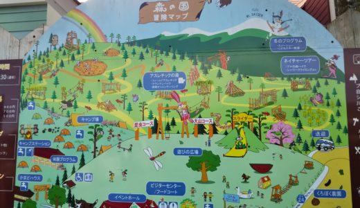 鳥取県西伯郡大山町の森の国で一日遊びつくす