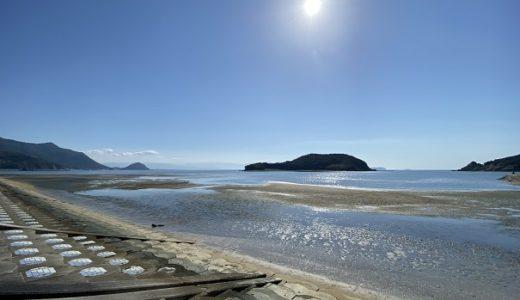 仁尾海岸でマテ貝の潮干狩り 新仁尾港 仁尾公園付近の砂浜 三豊市