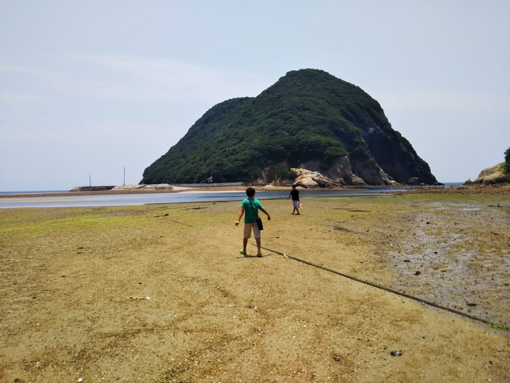 丸山島への道