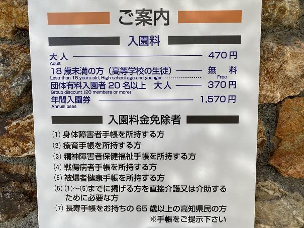 入園料高知県立のいち動物公園