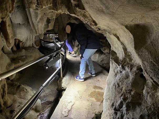 龍河洞の鍾乳洞内