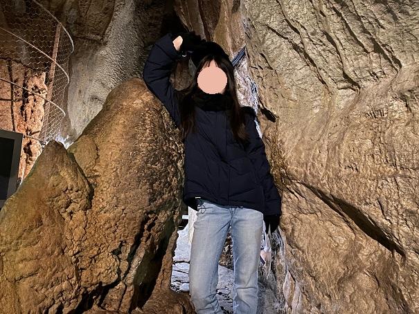 二葉山のへそすり石
