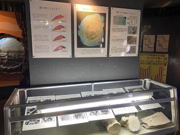 龍河洞博物館所鍾乳洞の説明